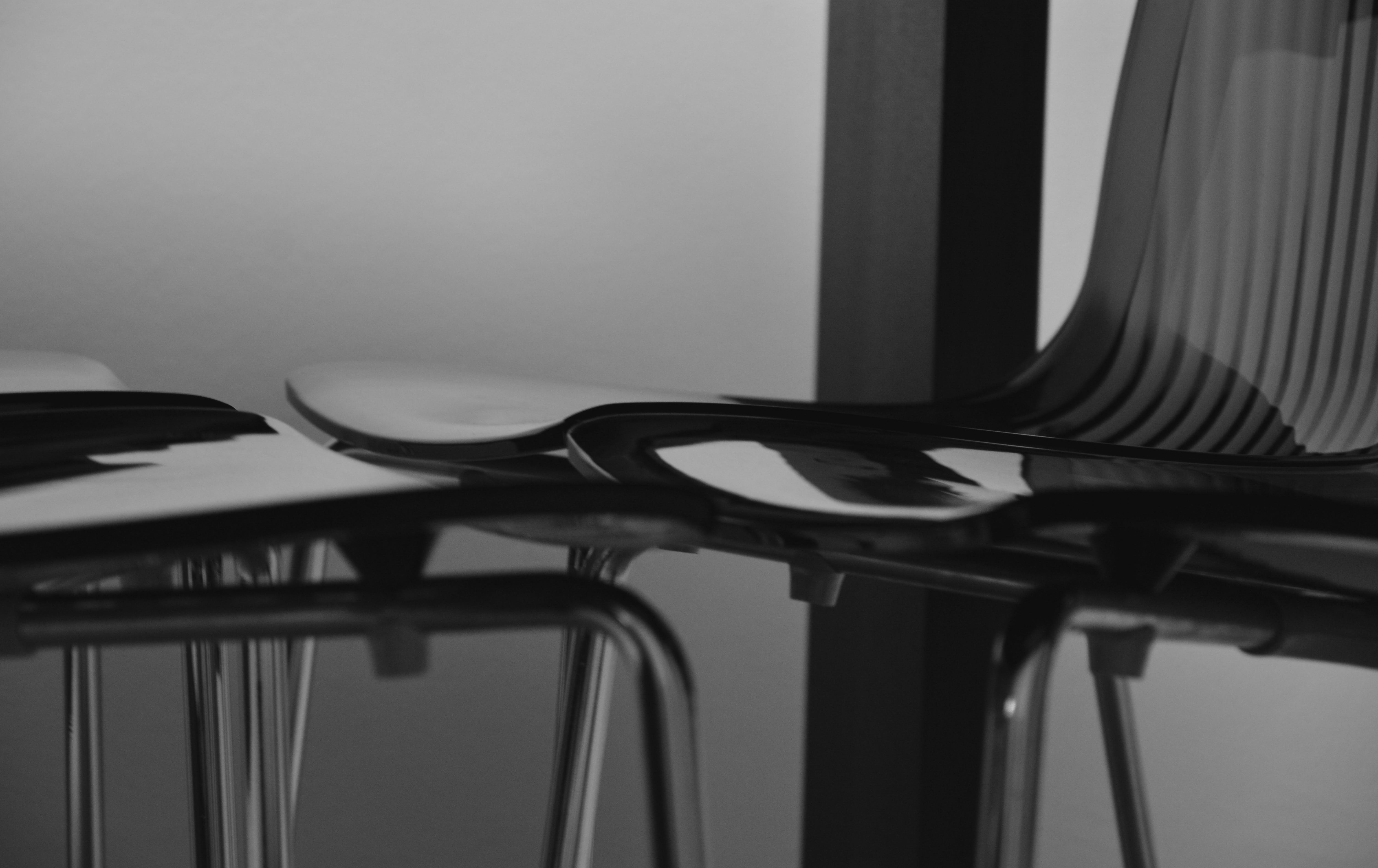 Free stock photo of black-and-white, chairs, close-up, furniture