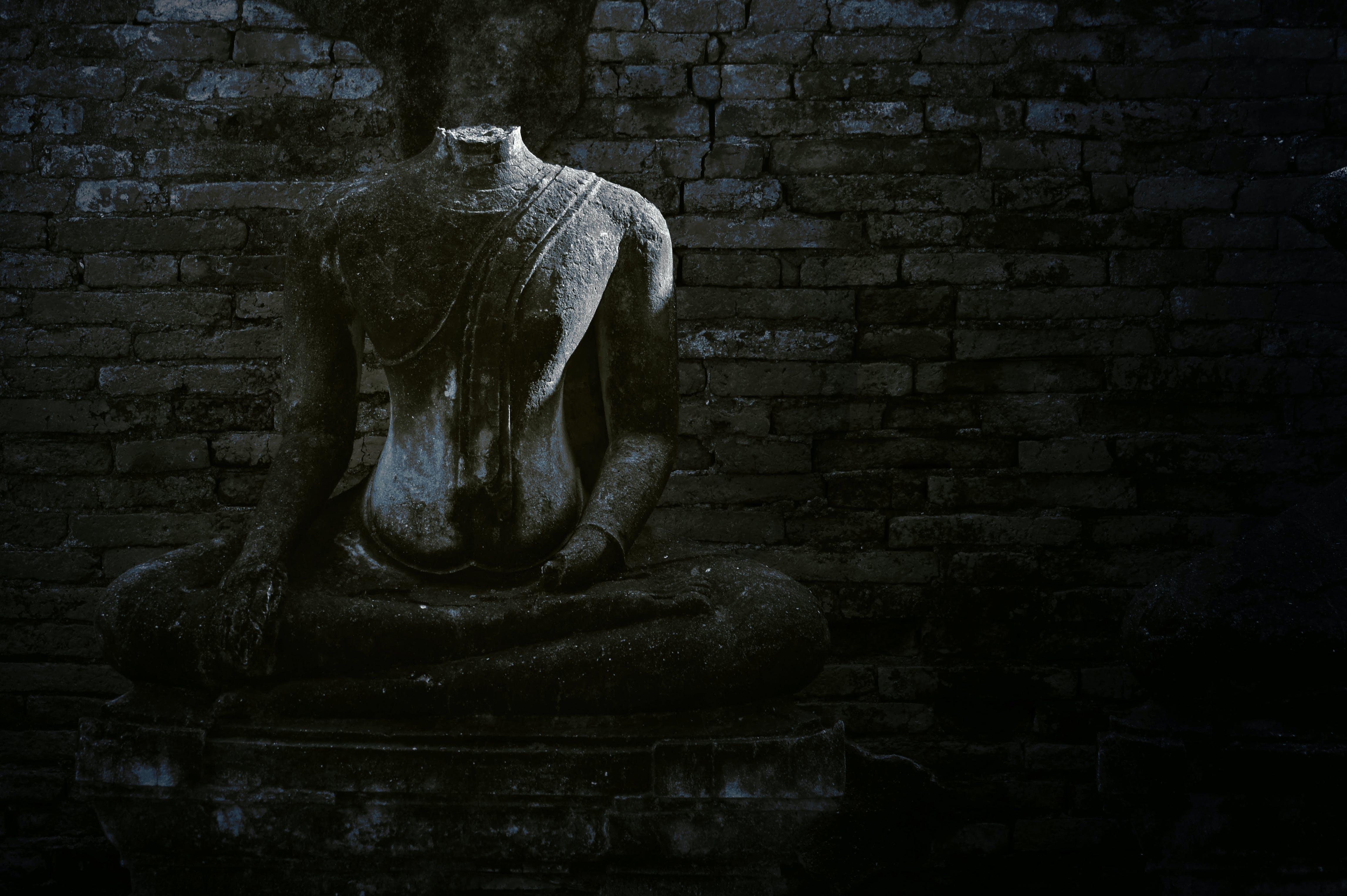 Foto d'estoc gratuïta de b/n, Buda, històric, maó
