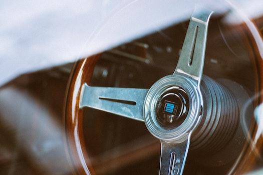 Free stock photo of car, vintage, steer