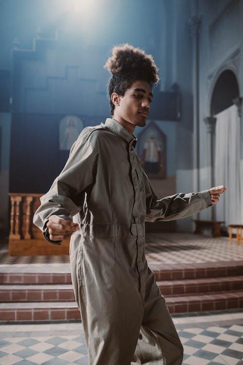 Man Singing and Dancing in Church