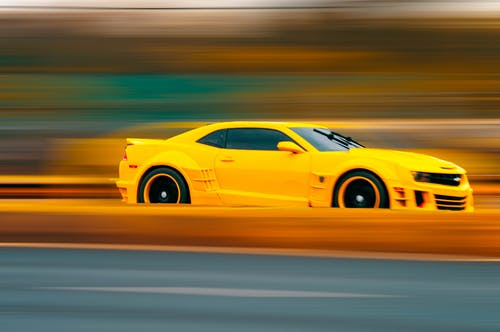 Free stock photo of black and yellow, bokeh, camaro