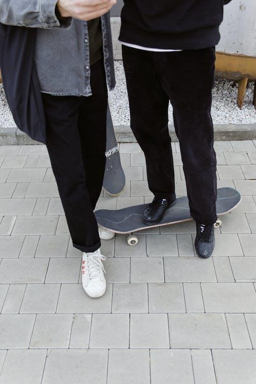 Men Wearing Black Pants