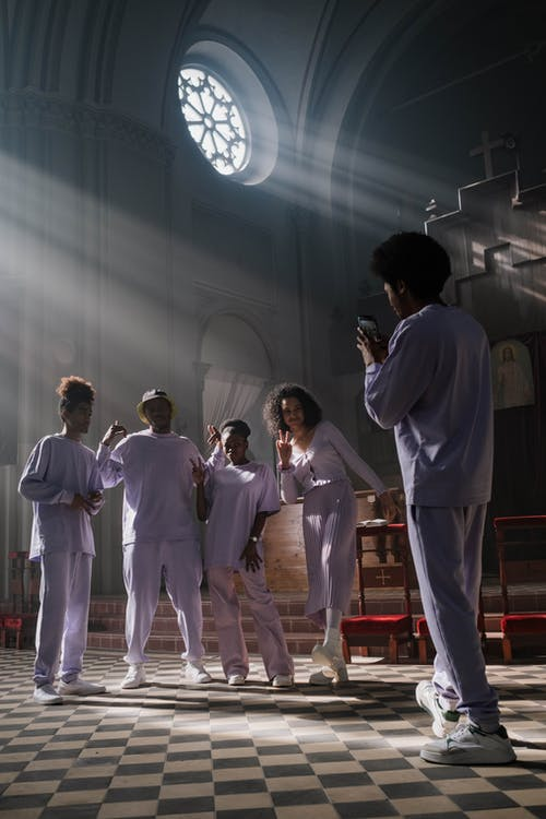 Choir Taking a Group Photo
