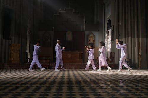 Choir Practicing in Church