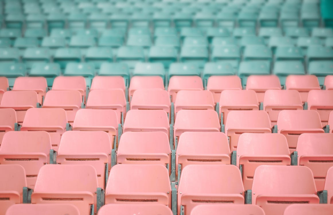Pink and Blue Stadium Chairs