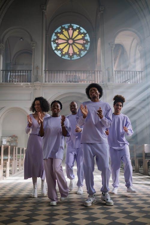 Choir Singing Inside the Church