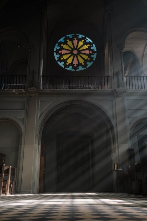 Stained Glass Inside a Church