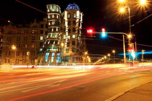 Fotos de stock gratuitas de calle, carretera, larga exposición, luces