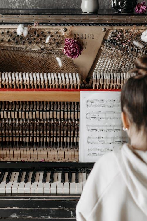 Music Sheet on Piano