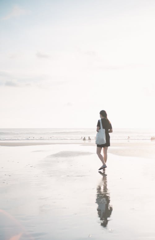 Free stock photo of beach, dawn, girl
