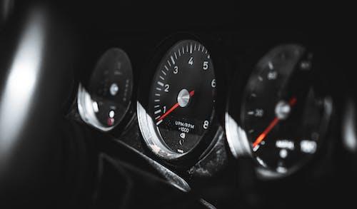 Black and White Speedometer at 0
