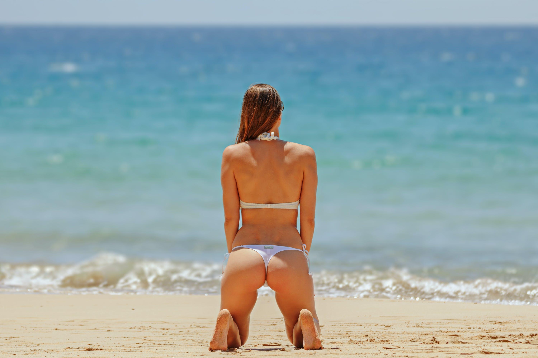 Woman Wearing Two Piece Bikini