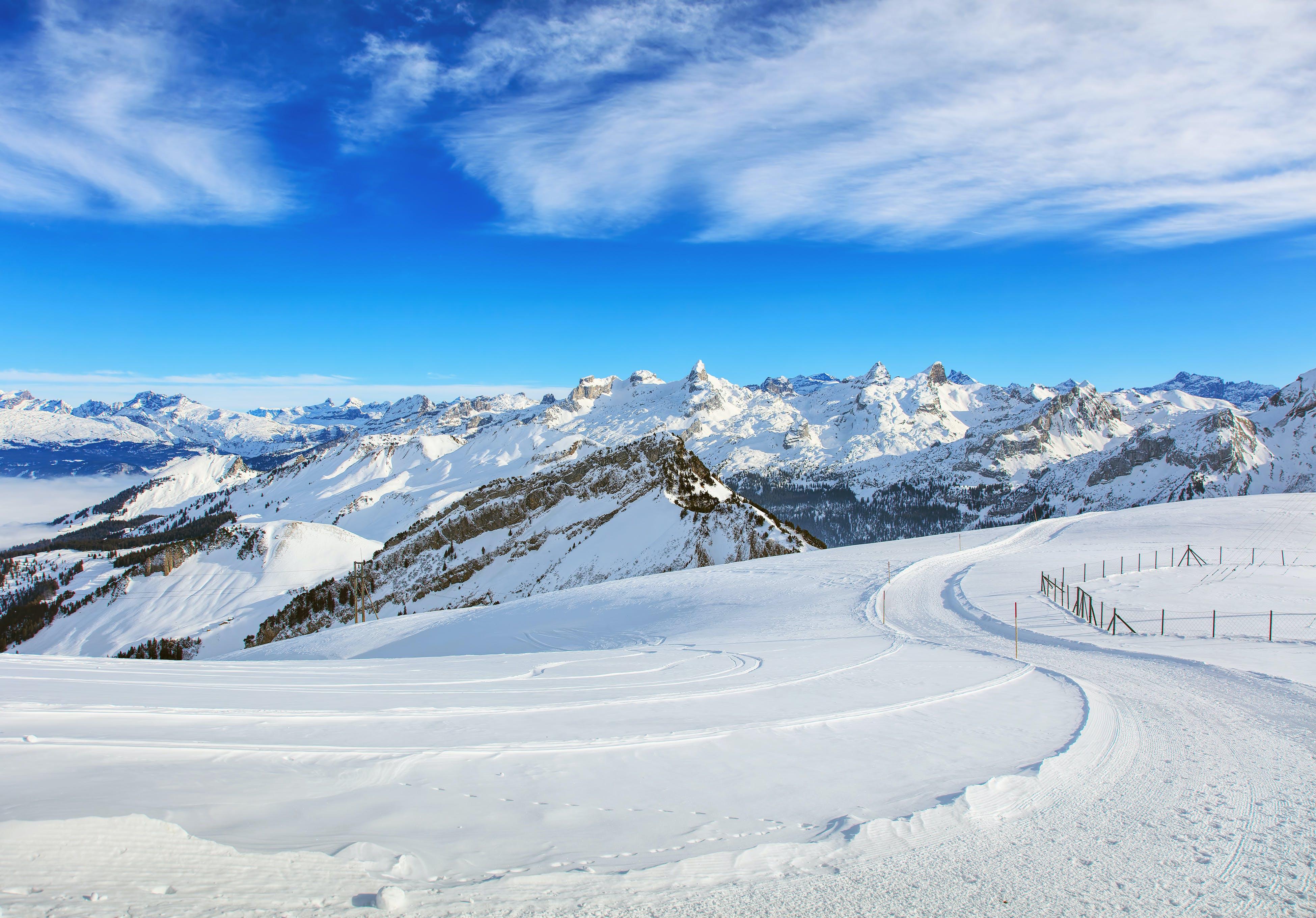 Photo of Mountains With White Snow