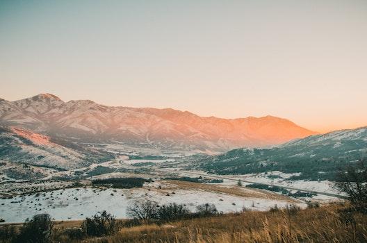Kostenloses Stock Foto zu schnee, straße, landschaft, berge