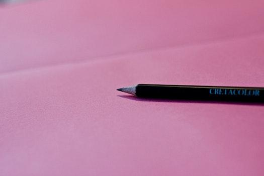 Kostenloses Stock Foto zu bleistift, schwarz, pink