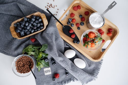 Flatlay Photo of Berries on the Table
