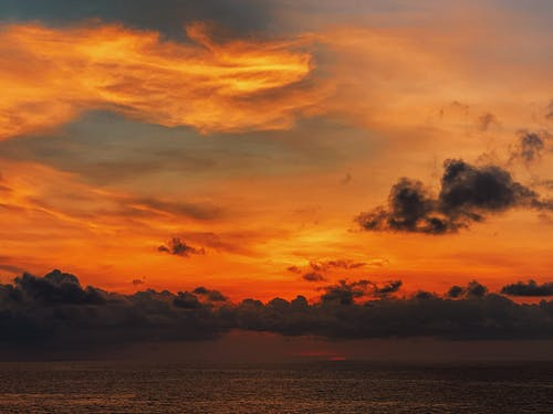 Ocean Under Sunset Sky