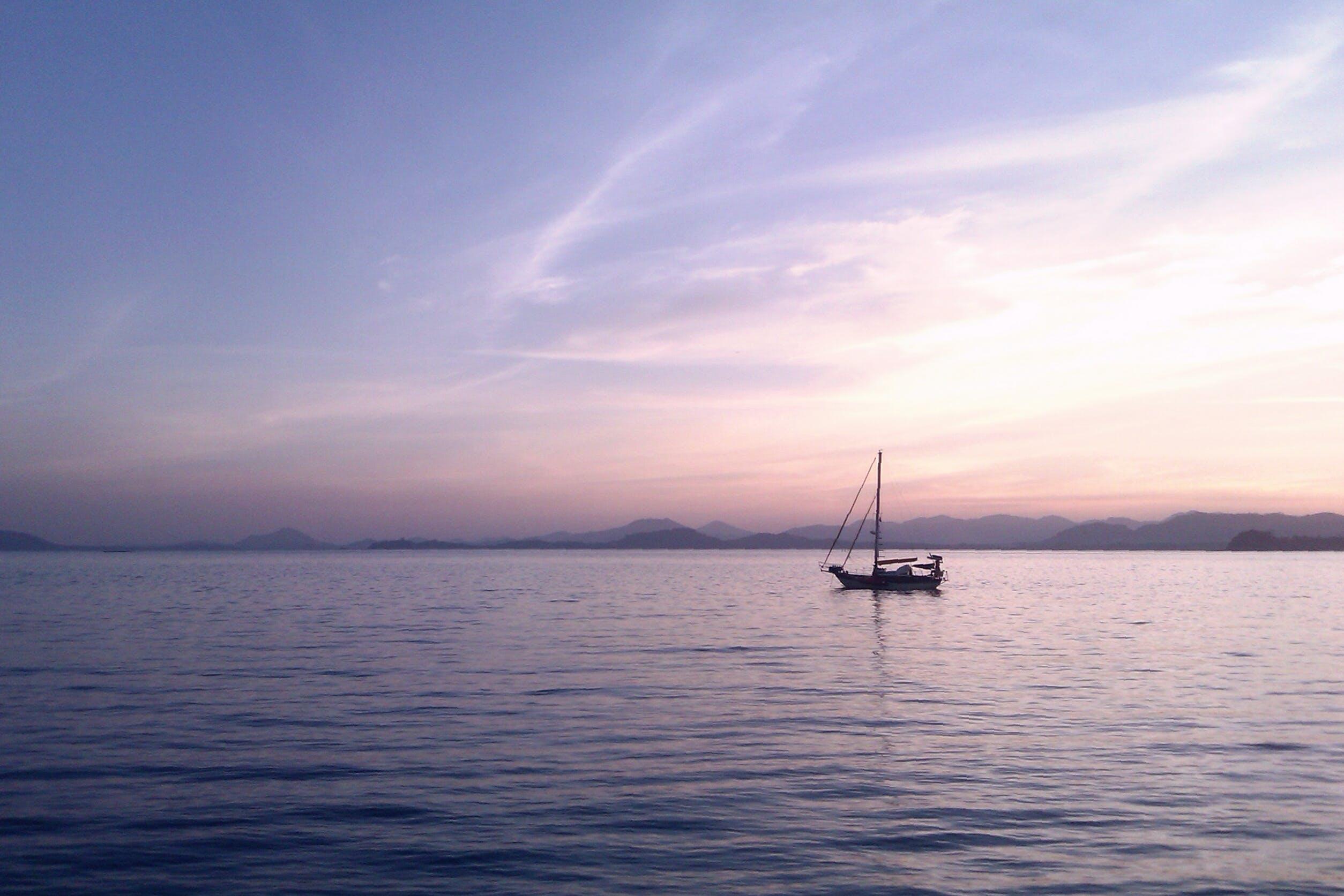 Free stock photo of background, boat, evening, hope