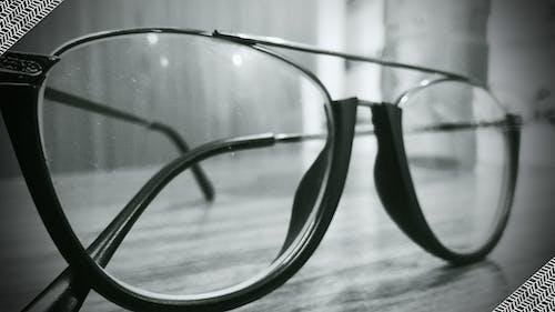 メガネ, レンズ, 白黒の無料の写真素材
