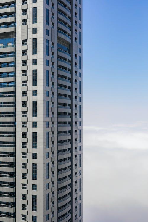 White Concrete Storage Building