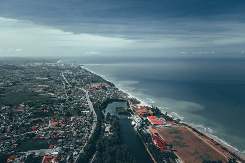 Free stock photo of aerial, architecture, beach