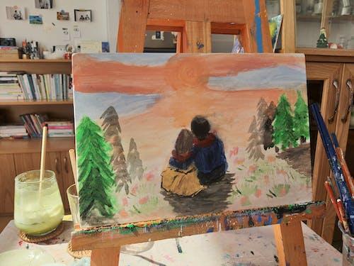 Photos gratuites de peinture, peinture acrylique, peintures à l'eau