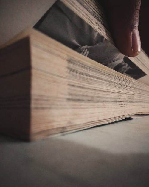 Free stock photo of book pages, brown