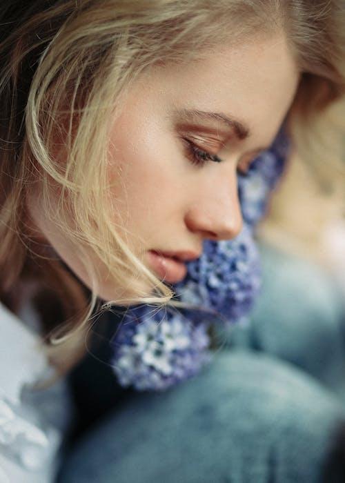 A Close-Up Shot of a Woman's Face