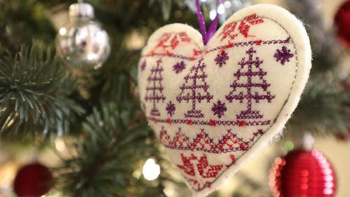Gratis stockfoto met borduurwerk, gelukkig kerstfeest, hart, Kerstmis