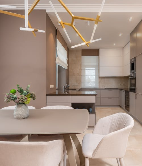 Stylish kitchen and dining area
