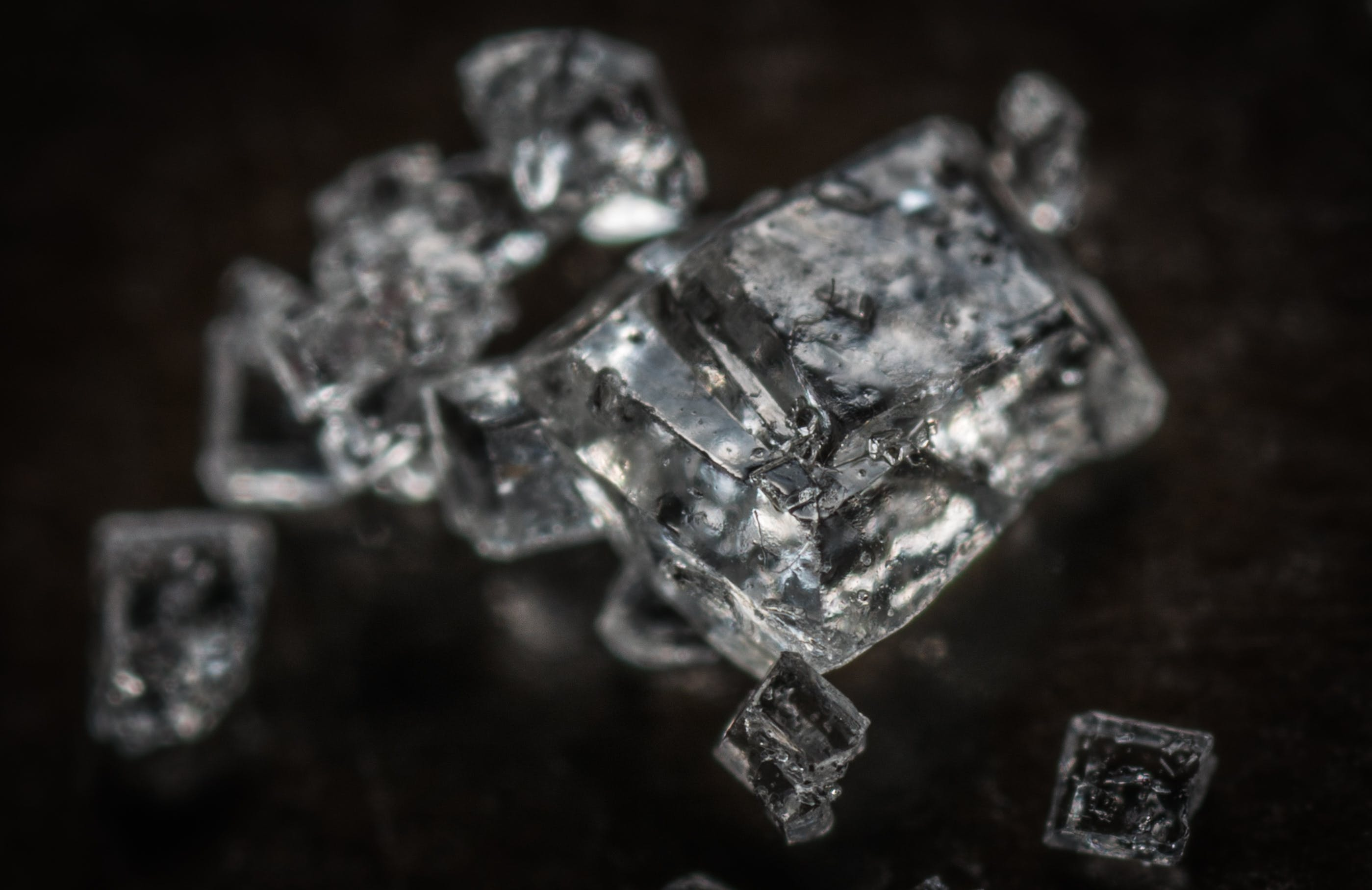 Selective Focus Photography Crystals Stones