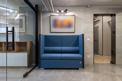 Interior of lobby of modern office