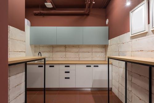 Interior of modern kitchen in workplace