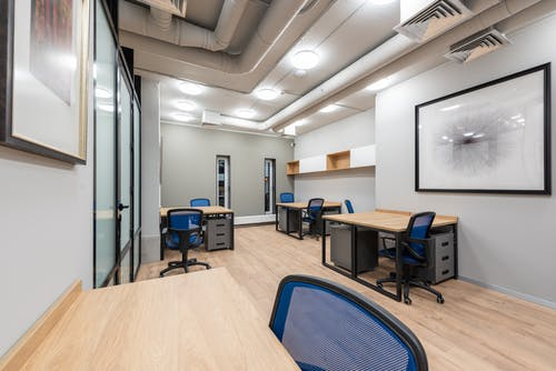 A Business Office with Modern Interior Design
