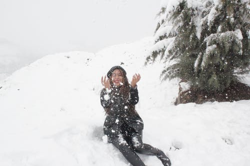 Free stock photo of artificial snow, heavy snow, laugh
