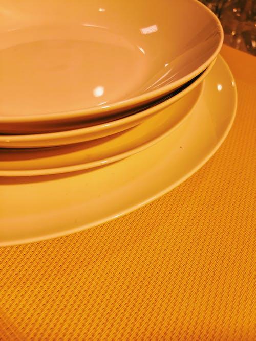 Foto d'estoc gratuïta de cuina, estovalles, groc