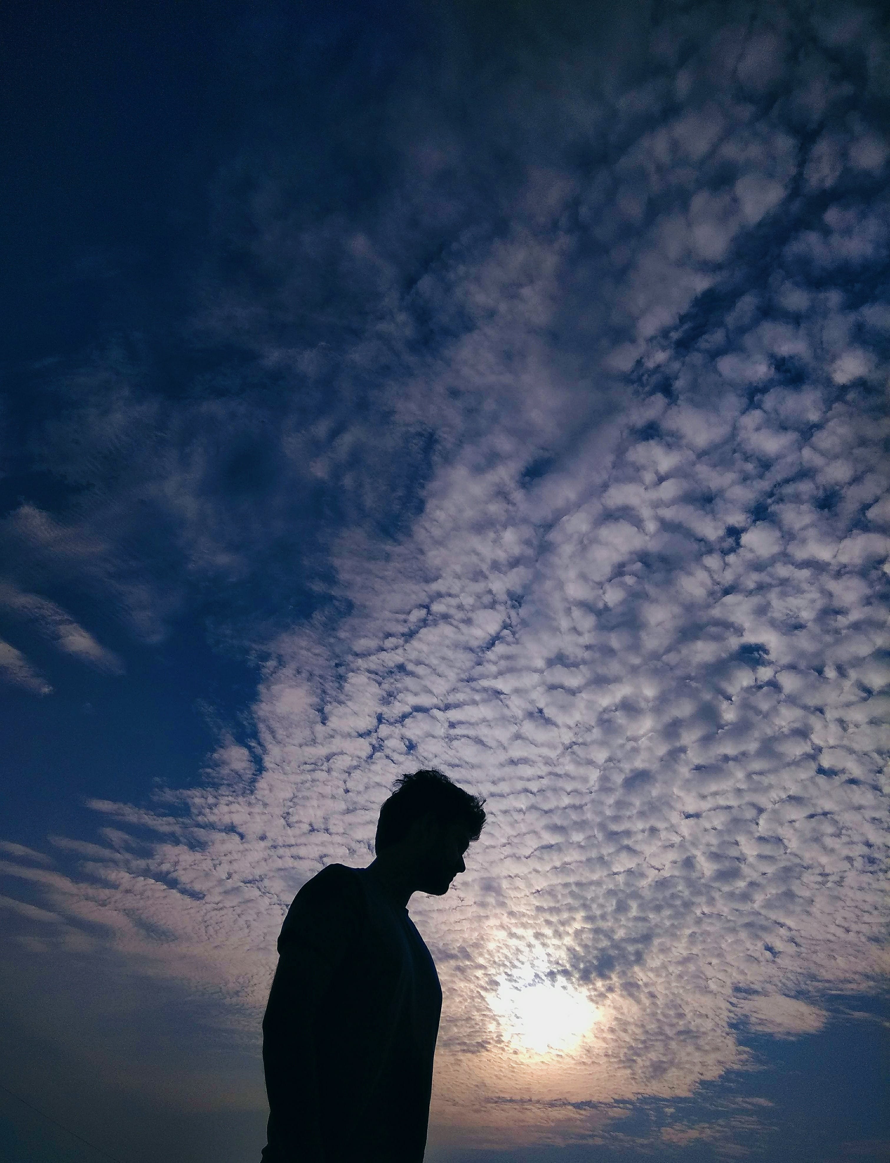 Free stock photo of cloudy, black, blue sky, india