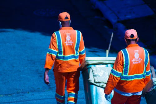 Free stock photo of trash, workers