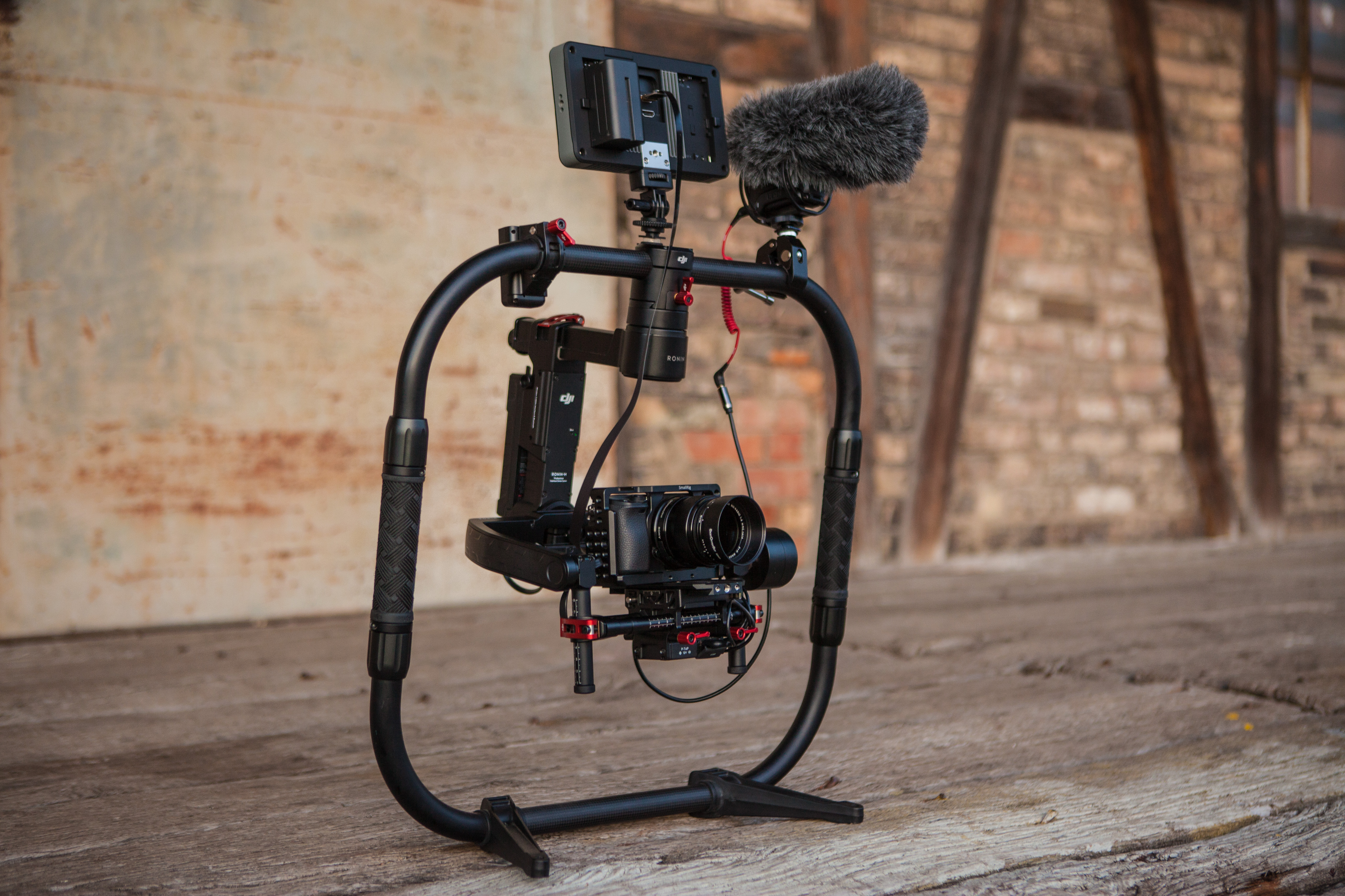Black Camera With Stand