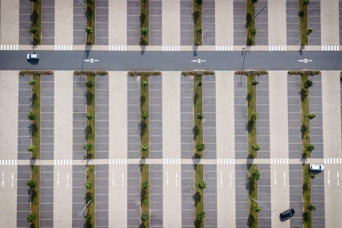 bãi đậu xe, bắn từ trên không, kiến trúc