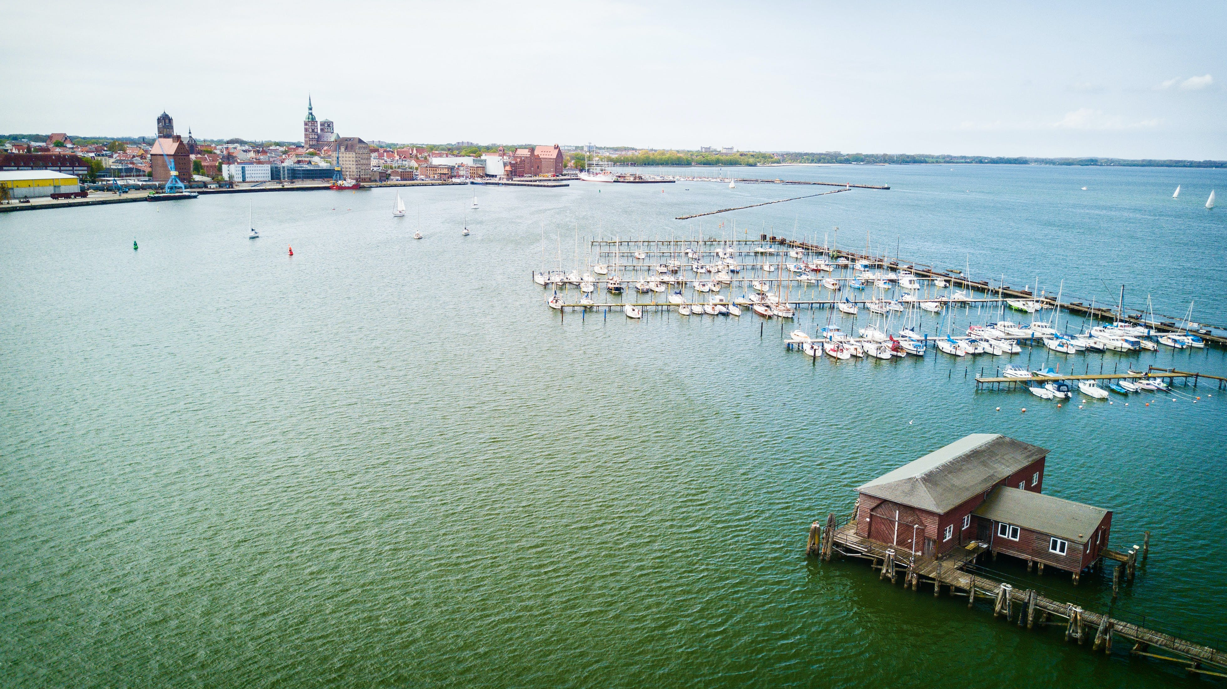 Free stock photo of aerial, aerial shot, aerial view, Baltic Sea