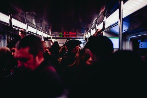Fotobanka sbezplatnými fotkami na tému cestujúci, cvičiť, dav ľudí, farby