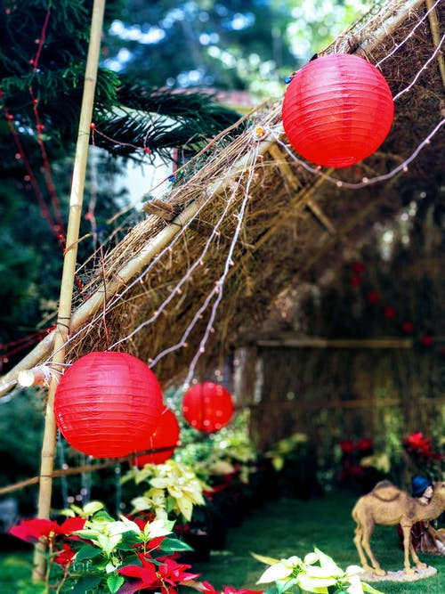 Two Red Ball Lanterns