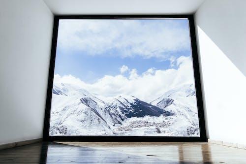 俯瞰, 冬季, 大雪覆蓋 的 免費圖庫相片