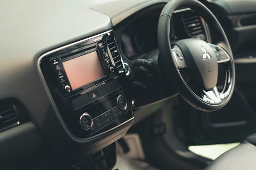 Black and Silver Car Stereo