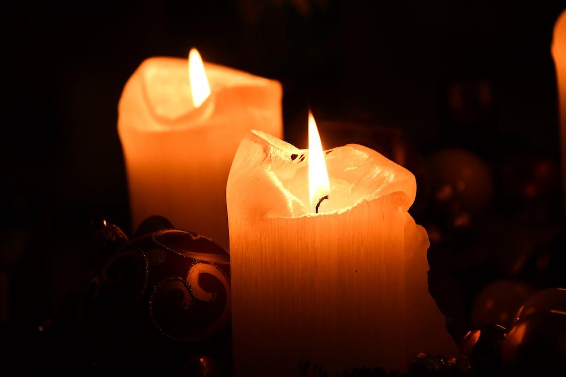 abend, beleuchtet, brand