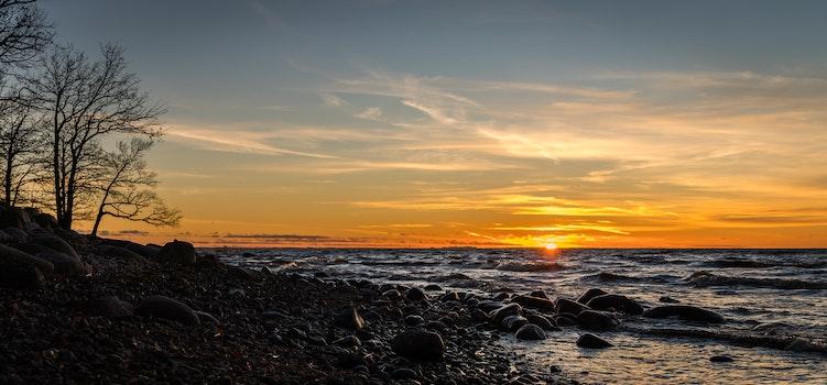Seashore Photo Shot during Sunset