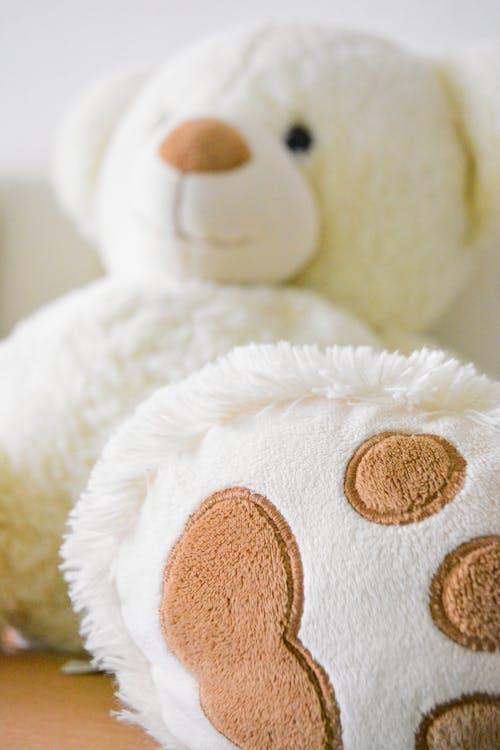 White Bear Plush Toy Selective Photo