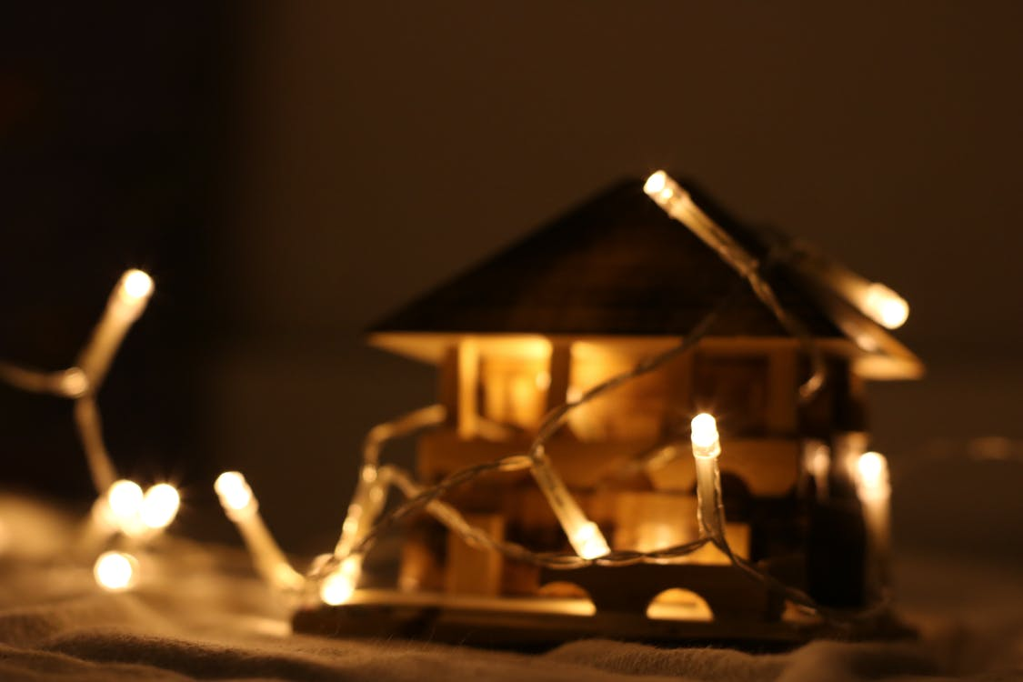 abend, beleuchtet, beleuchtung