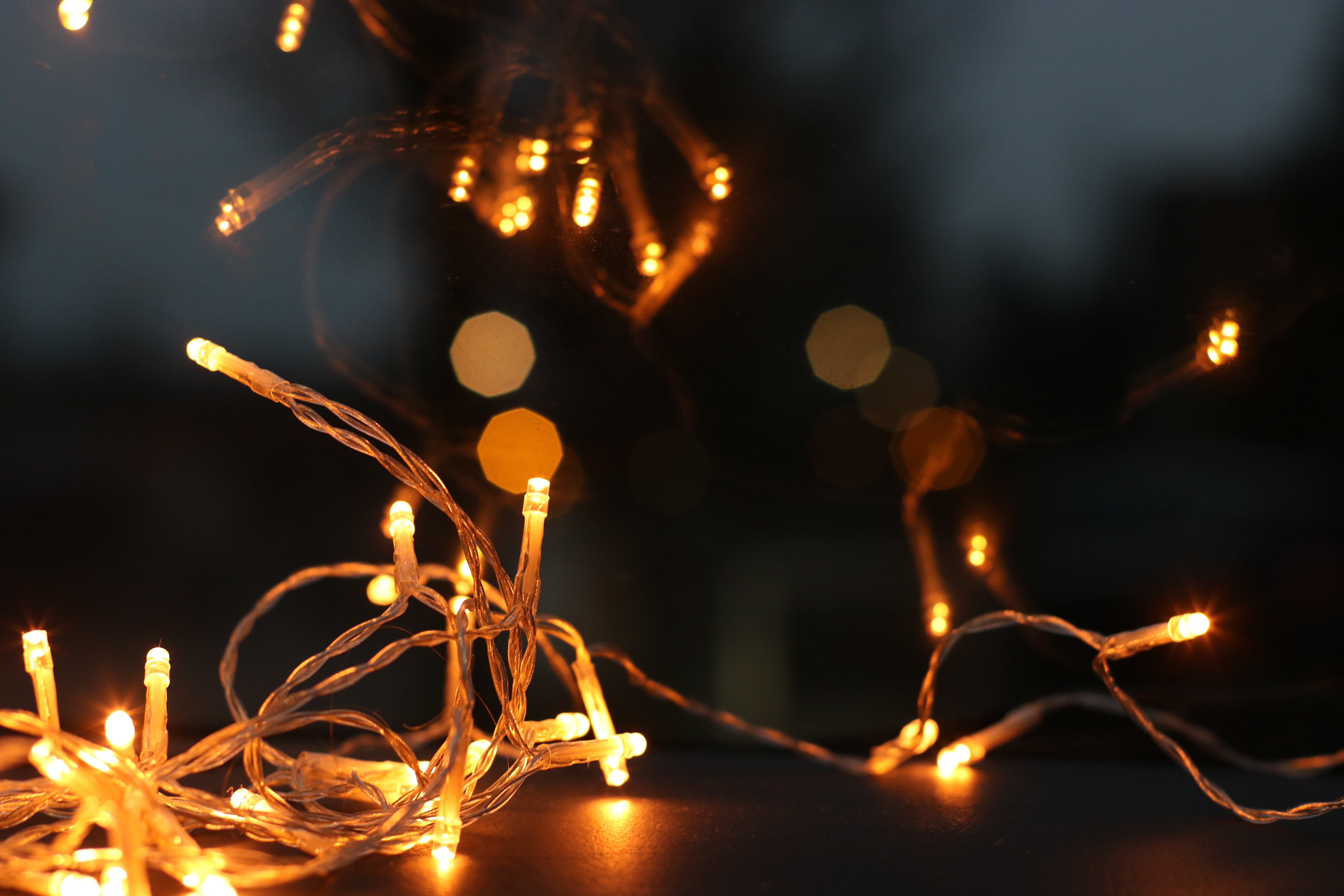 Shallow Focus Photography of String Lights